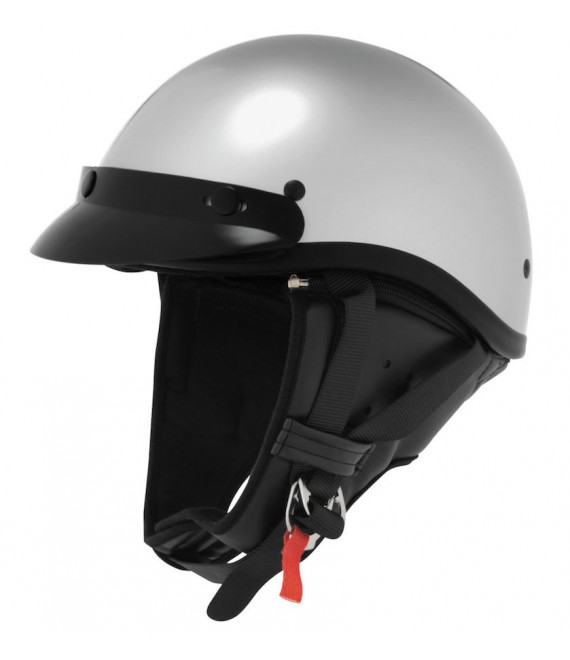 CLASSIC TOURING HALF HELMET SILVER